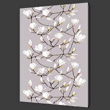 marimekko magnolia inspired canvas print wall art modern design