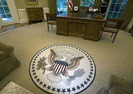 oval office rug white house blunder over new oval office rug quote rediff com