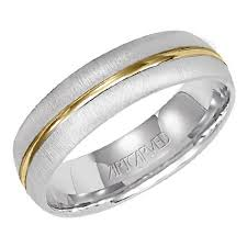 hudson wedding band hudson 6mm wide comfort fit two tone wedding band by artcarved