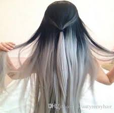 grey hair extensions wave grey hair weave silver grey ombre hair