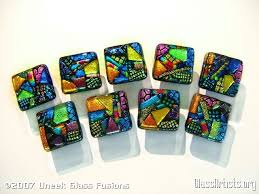 dichroic fused glass cabinet knobs glass artists org
