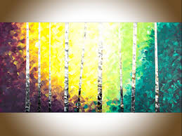 twilight birch trees by qiqigallery 48