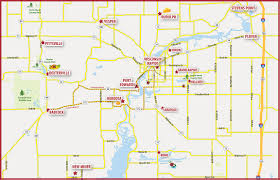 Wisconsin City Map by Cranberry Highway Wisconsin Rapids