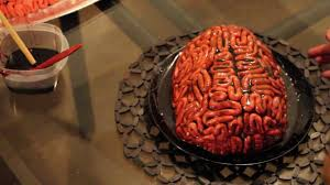 Gross Cakes For Halloween by Making A Brain Cake For Halloween Youtube
