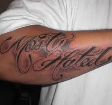 arm text tat from itattooz