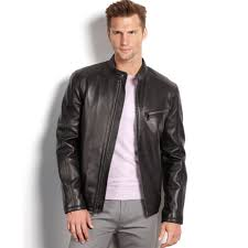 mens moto jacket marc new york sutton smooth lamb leather moto jacket in black for