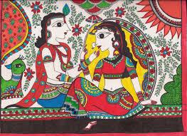 fish motifs madhubani folk art on paper unframed indian art