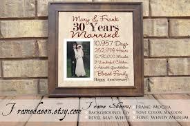 30 wedding anniversary gift wedding anniversary 30th wedding anniversary gift parent