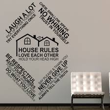 House Rules Design Com by Wall Stickers Uk Wall Art Stickers Kitchen Wall Stickers