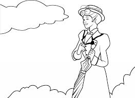 mary poppins coloring pages download print free