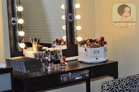 New Vanity My Makeup Vanity Set Up With Diy Lighted Mirror The Shades Of U
