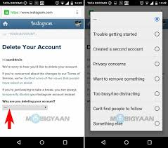 delete account android how to delete instagram account ios android guide