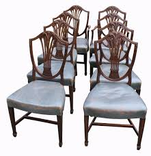 shield back dining room chairs a set of walnut queen anne style dining chairs u2013 hogarths gallery