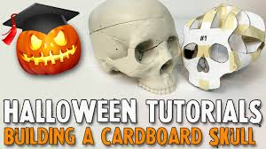 how to make a cardboard skull youtube