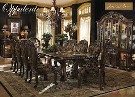 formal dining room sets with china cabinet oppulente luxury 13 piece formal dining room set china cabinet