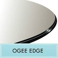 36 inch round tempered glass table top 36 inch round clear tempered glass table top 3 4 thick ogee edge