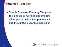 joslin diabetes center affililated programs business plan