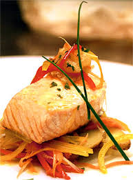 haute cuisine recipes salmon in parchment paper so easy and i like to add greens