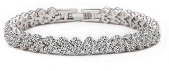 white gold crystal bracelet images Swarovski elements lady 18k white gold plated elegant glisten jpg