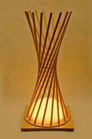 inspirational image wooden lamp with interesting light opening