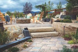 multi dimensional fire pit patios that add flare to outdoor living