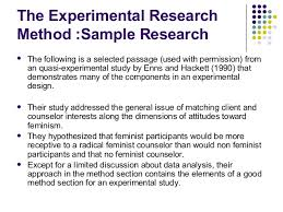 good experimental design what are the principal data sources in experimental and quasi