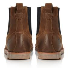 timberland rugged chelsea boots in brown for men lyst