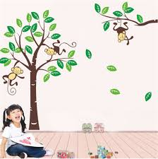 popular monkey wall decals buy cheap monkey wall decals lots from zy1206deep forest monkeys vinyl wall stickers for kids rooms children home decor sofa living wall decals