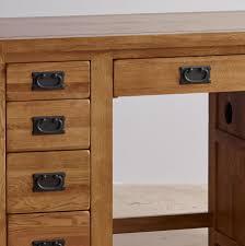 Office Desks Oak Original Rustic Solid Oak Office Desk Office Desks Living Room