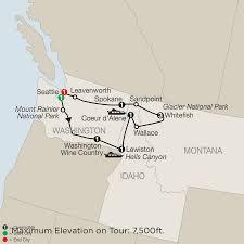 Richland Washington Map by Glacier National Park Tour Globus Tours