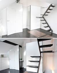Small Staircase Design Ideas Cool Platform Stairs Design Steps To Saving Space 15 Compact Stair
