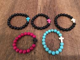 cross bracelet bead images Little girl and preteen sideways cross bracelet colored sideways jpg