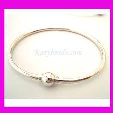 solid sterling silver charm bracelet images 7 solid 925 sterling silver charm bangle bracelet screw etsy jpg