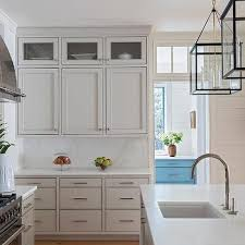 white and taupe lower kitchen cabinets white top cabinets and taupe bottom drawers design ideas