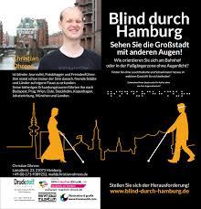 Blind Christian Blind Through Hamburg Discover Hamburg U2013 But As A Blind Person