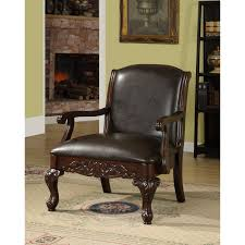 furniture of america antique dark cherry accent chair free