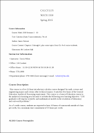 math 1550 sp15 syllabus calculus math 1550 spring 2015 course