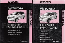 2004 2010 toyota sienna body collision repair shop manual original
