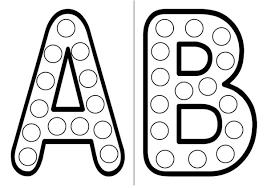 dessins alphabet en majuscule éducatifs