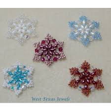 snowflake 1 beaded ornament pattern bead patterns by skobel