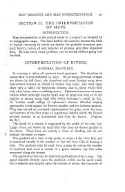 Study Of Maps Map Reading And Map Interpretation Military Geology And