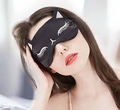 pattern black silk pack amazon com cat girl pattern silk eye mask for sleeping women animal