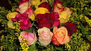 Colorful Roses Free Photo Colorful Roses Bouquet Flowers Max Pixel