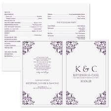 free sle wedding programs free program templates microsoft wedding program templates