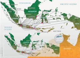 United International Route Map by Domestic Flight Route Garuda Indonesia