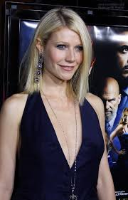 tucked behind the ear haircuts gwyneth paltrow straight shoulder line haircut with hair tucked
