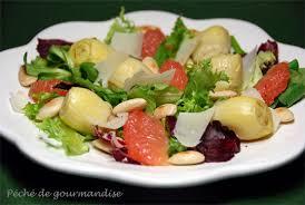 cuisiner coeur d artichaut salade d artichauts au plemousse d après oliver