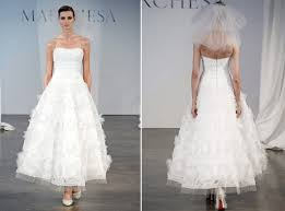 marchesa 2014 modern ankle length bridal gown recent bridal 2015
