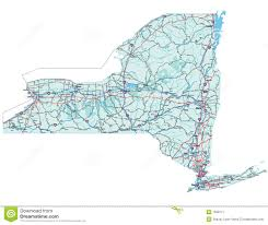 New York State Counties Map by New York State Road Map Royalty Free Stock Photography Image