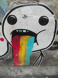 Drooling Rainbow Meme - the world s newest photos of puke and rainbow flickr hive mind